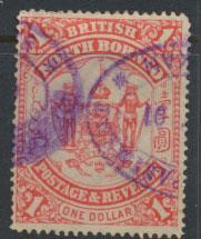 North Borneo  SG 47 Revenue Used   Scarlet  please see scans & details