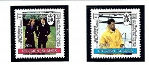 Pitcairn Is 275-76 MNH 1986 Prince Andrew Wedding          (KA)