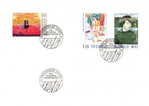 Sweden, Art, Worldwide First Day Cover