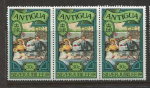 Antigua #460 MNH 1977 Strip of 3 X  30c Stamps