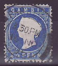 Gambie Gambia Cancelled Paquebot Liverpool 2 1/2p Cameo Posted on steamer