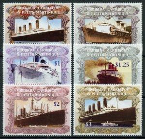Grenada Grenadines Ships Stamps 2004 MNH Ocean Liners Boats Titanic 6v Set