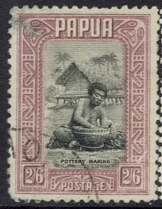 PAPUA 1932 POTTERY MAKING 2/6 USED