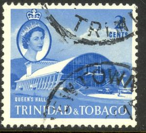 TRINIDAD AND TOBAGO 1960 QE2 2c Queen's Hall Issue Sc 90 VFU