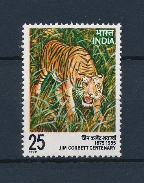 [38450] India 1976 Wild Animals Mammals Tiger Jim Corbett Centenary MNH