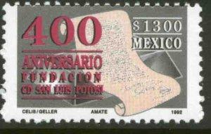 MEXICO 1777, SAN LUIS POTOSI, 400th ANNIVERSARY. MINT, NH. VF.