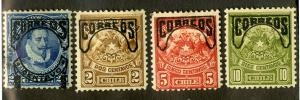 CHILE 58-61 MH SCV $3.75 BIN $1.60 COATS OF ARMS