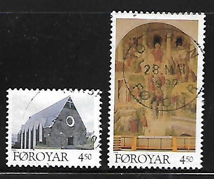 FAROE ISLANDS, 310-311,  USED, CHRISTMAS
