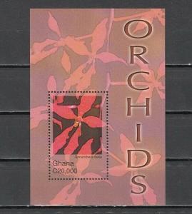 Ghana, Scott cat. 2445. Orchid s/sheet.