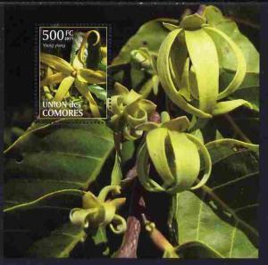 Comoro Islands 2011 Plants perf m/sheet (Ylang Ylang) unm...