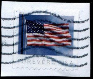 2019 UNITED STATES SC#5343 (55c) FOREVER COIL ON PAPER USED