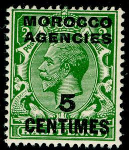 MOROCCO AGENCIES SG192, 5c on ½d green, NH MINT.