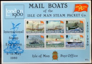 Isle of Man 1980 SC# 168-173a S/S MNH L189