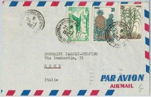 44744 - CAMBODIA Cambodge - POSTAL HISTORY - COVER to ITALY 1963 BIRDS Fruit
