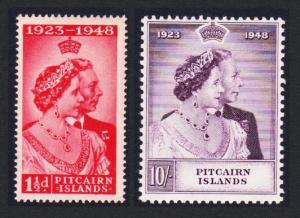 Pitcairn Silver Wedding 2v SG#11-12 SC#11-12