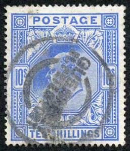 SG319 KEVII 10- Blue (Somerset House) Very Fine Used Cat 600