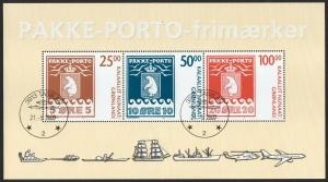 GREENLAND 2007 MS SG 531 Parcel Post Mini sheet- used