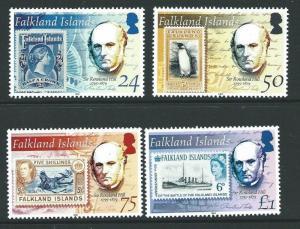 FALKLAND ISLANDS SG989/92 2004 SIR ROWLAND HILL MNH