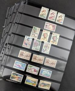 EDW1949SELL : FRENCH COLONIES Old Time Mint & Used collection. Nicely displayed.