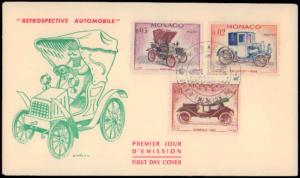 Monaco, Worldwide First Day Cover, Automobiles