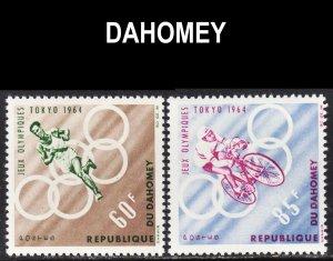 Dahomey Scott 191-92 complete set F to VF mint OG NH.