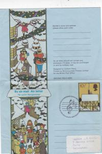 GB 1978 Christmas 10.5p Air letter First Day of Issue Bethlehem-Leicester VGC