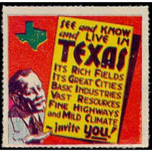 US - Texas Promotional Advertising Poster Stamp