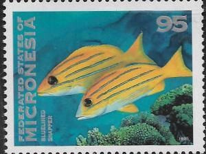 MICRONESIA, 223 MNH, BLUE LINED SNAPPER