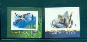 Finland - Sc# 1211-2. 2004 Birds, Orchids. MNH. $5.00.