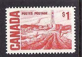 Canada-Sc#465B- id7-Unused NH $1.00 Oilwell-1967-