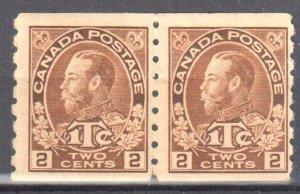 Canada #MR7iii VF NH Pair - C$1500.00 -- Scarce Die 1