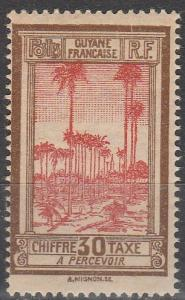 French Guiana #J16 F-VF Unused  (V4110)