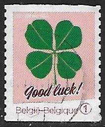 Belgium # 2662 - Good Luck : Four-leaf Clover  - used -{BLW8}