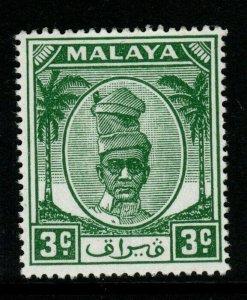 MALAYA PERAK SG130 1950 3c GREEN MTD MINT