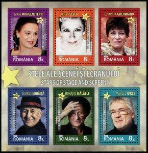 HERRICKSTAMP NEW ISSUES ROMANIA Sc.# 6047b Actors 2017 Souvenir Sheet
