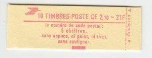 J29328, France  2.10fr Liberty Booklet MNH #1883