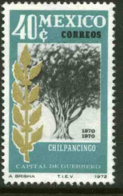 MEXICO 1042, Chilpancingo, CENTENARY AS CAPITAL OF GUERRERO. MINT, NH. VF.