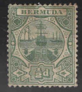 BERMUDA Scott 33 Used Dry Dock multiple crown CA wmk 3