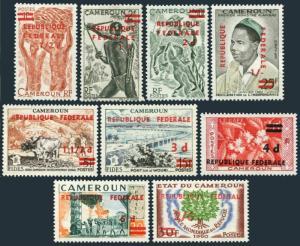 Cameroun 343-351,MNH.Michel 332-340. 1961.Carrying bananas,Bowman,Bridge,Oak.