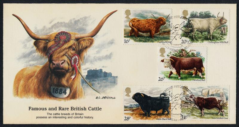 Great Britain 1044-8 on FDC - National Cattle Breeders Association