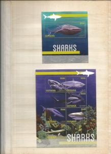 GUYANA 2013 SHARKS SCOTT 2214 AND 2215 MNH COMPLETE SET