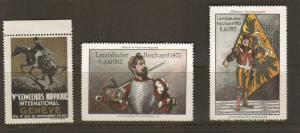 Poster Stamp Concours Hippique International Geneve 1930