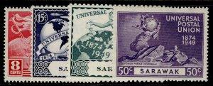 SARAWAK GVI SG167-170, anniversary of UPU set, NH MINT.