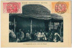44837 -  AOF  IVORY COAST Côte d'Ivoire - POSTAL HISTORY - Ethnic Postcard 1933