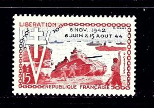 France 718 MH 1954 10th Anniv of Liberation