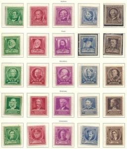 US# 859-893 Famous Americans Set of 35 VF cat. $52.50