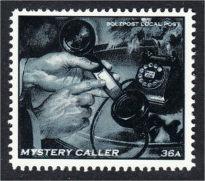 Mystery Caller Rotary Telephone Fantasy Stamp Artistamp by BoltPost Local Post