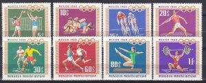 Mongolia #496-503  MNH  CV $3.05 (Z9344)