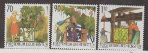 Liechtenstein Scott #1259-1260-1261 Stamps - Mint NH Set