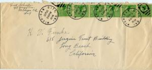 U.S. Scott 804 (6) Prexies/Prexys on Double Weight 1st Class Cover
